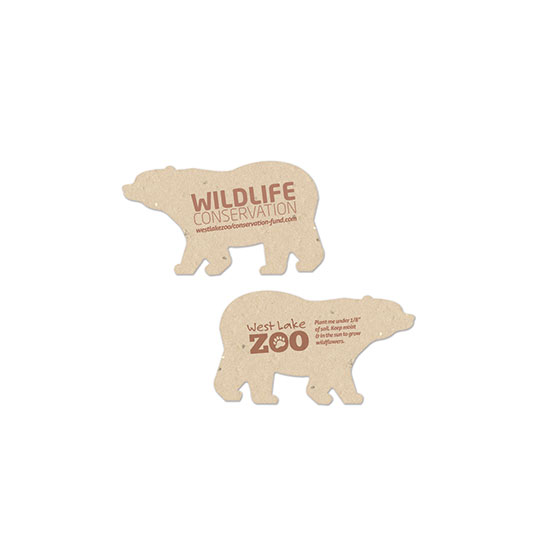 This Wildlife Conservation Plantable Bear Shape is a powerful symbol for wildlife conservation