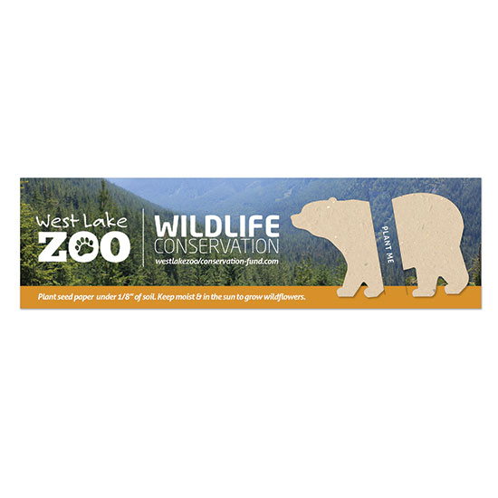 Share an important message about protecting wild plant and animal species and their habitats with these Wildlife Conservation Plantable Bear Bookmarks.