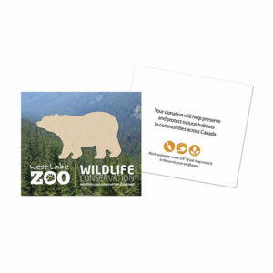 Show that your business or organization cares about protecting wild plant and animal species and their habitats with these Wildlife Conservation Plantable Bear Cards.