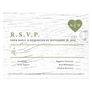 Printed on eco-friendly seed paper, you'll be able to plant a whole garden of flowers when you receive these Winery Seed Paper Reply Cards back from your guests.