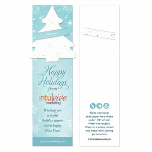 These Winter Tree Holiday Bookmarks with Slot are a unique and cost-effective alternative to sharing holiday cards because they offer a greeting and a gift in one.