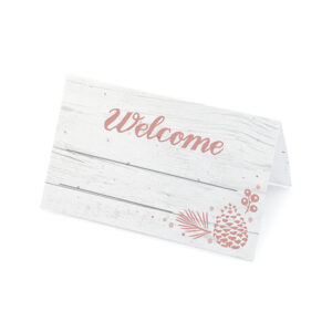 Created with eco-friendly seed paper, these Winter Wonderland Plantable Place Cards are embedded with NON-GMO wildflower seeds so guests can grow real flowers after the wedding.