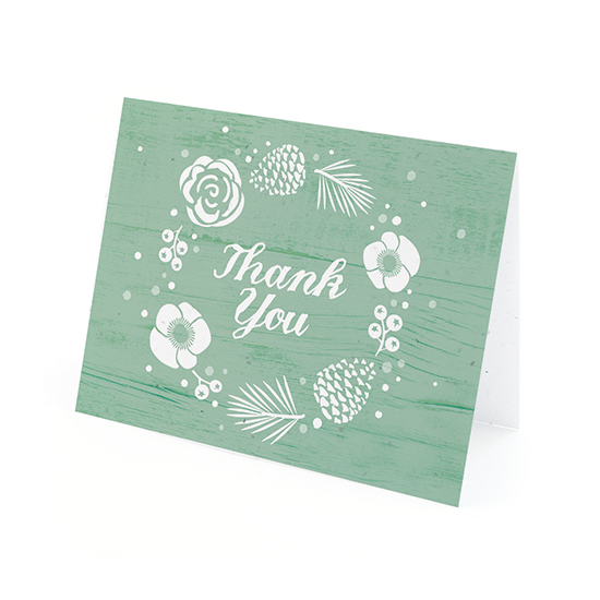 These Winter Wonderland Plantable Thank You Cards are made with eco-friendly materials that are infused with wildflower seeds that grow a garden of beautiful blooms when planted in a pot or garden.