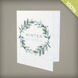 Celebrate nature this holiday season and give the gift of wildflowers with these beautifully illustrated seed paper holiday cards that can be branded with your logo and URL.