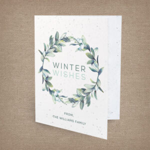Beautifully illustrated personalized seed paper holiday cards.
