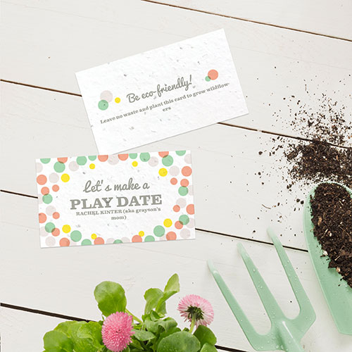 Personalized cards that are also plantable.