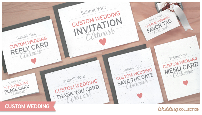 The Custom Plantable Wedding Invitations give you complete control over the design of your invitations, which will be printed on seed paper embedded with wildflower seeds.