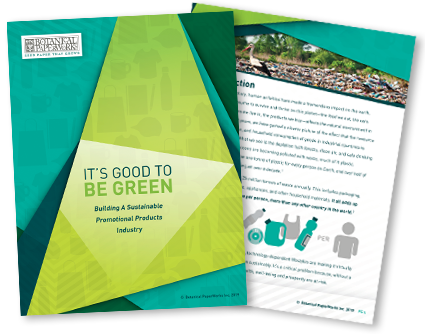 Free whitepaper download about making the promotional products industry more eco-friendly.