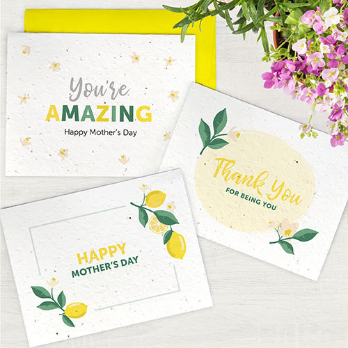 Plantable seed paper cards for Mum