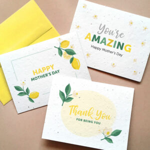 Set of seed cards with Mother's Day designs