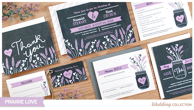 Share your love of the countryside with these Prairie Love Seed Paper Wedding Invitations that grow wildflowers when planted!