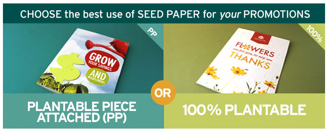 Say Thank You to your Clients and Customers with Green Promotions from Botanical PaperWorks