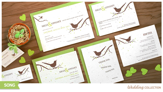 When the lucky recipients plant these Song Plantable Wedding Invitations, wildflowers will grow right out of the paper!