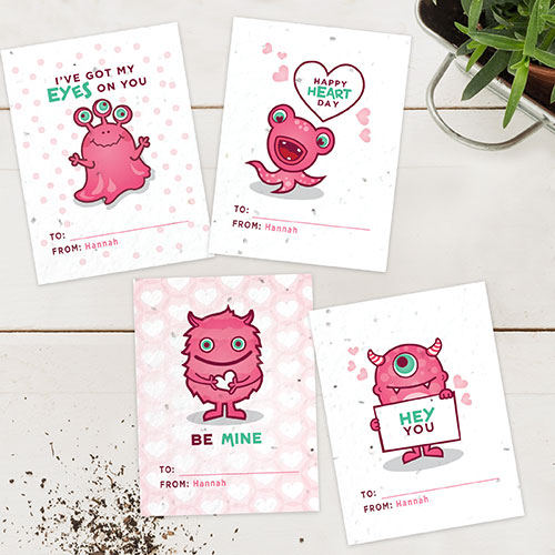 Plantable valentines that will grow wildflowers.