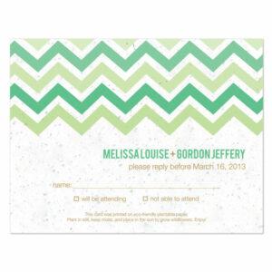 Plantable chevron reply cards