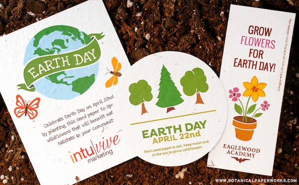 Earth Day promotions from Botanical PaperWorks will help set you apart and show your commitment to the environment