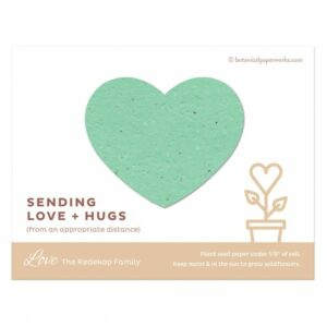 Love + Hugs Photo Cards With Plantable Heart