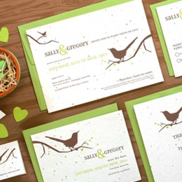 When your guest plant these Song Plantable Wedding Invitations, wildflowers will grow right out of the paper!