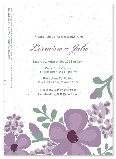 Printable Wedding Invitation Kits Lavender