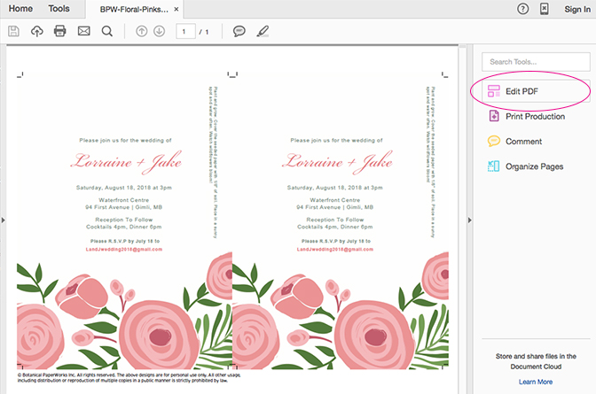 Seed Paper Printable Wedding Invitations