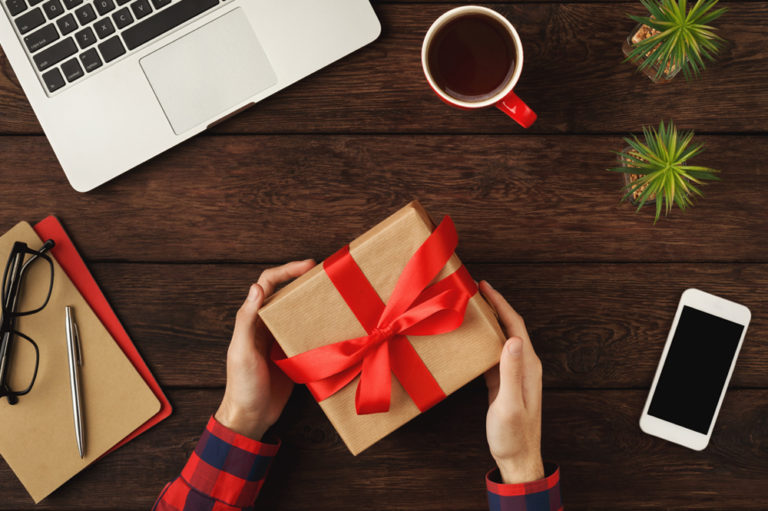 Picture of hands holding an eco-friendly gift