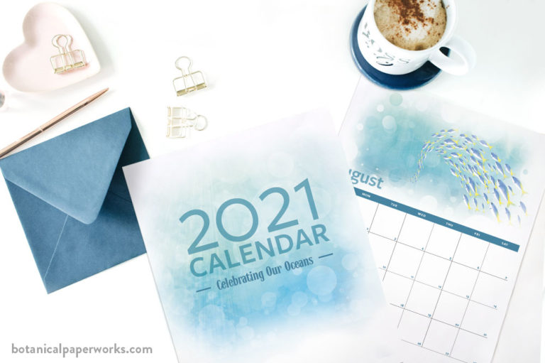 Seven designer free printable calendars for 2021 made to capture all your goals and plans for the year ahead.