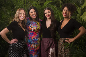 Cheekbone Beauty Indigenous-owned company team photo with CEO Jennifer Harper and models
