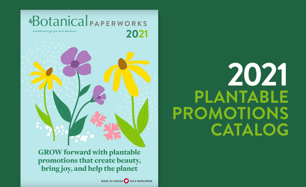 Cover of the 2021 Plantable Promotions Catalog
