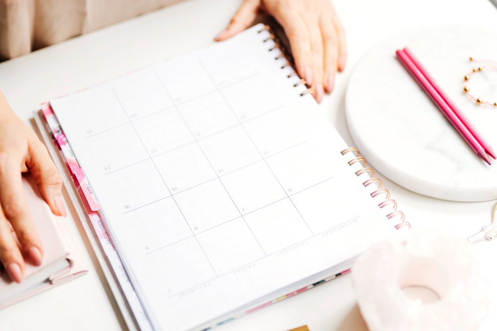 a woman planning using an agenda