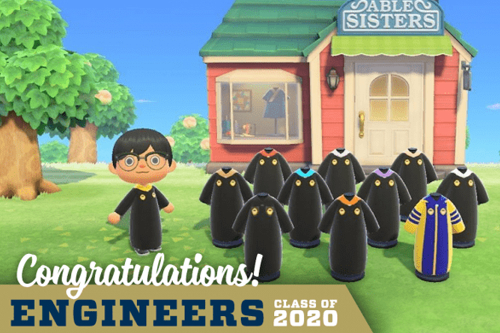 Animal Crossing graduation ceremony from Georgia Tech College of Engineering