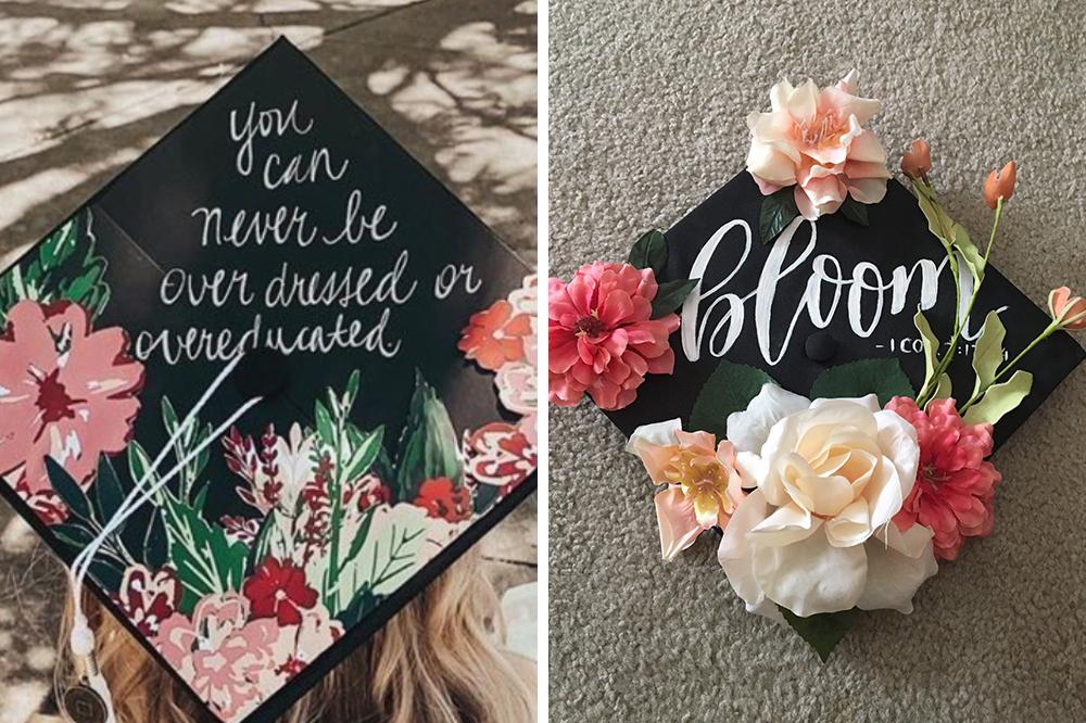 Graduation cap decorating contest particpants