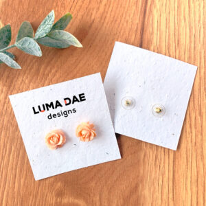 Plantable earring cards made with seed paper that grows.