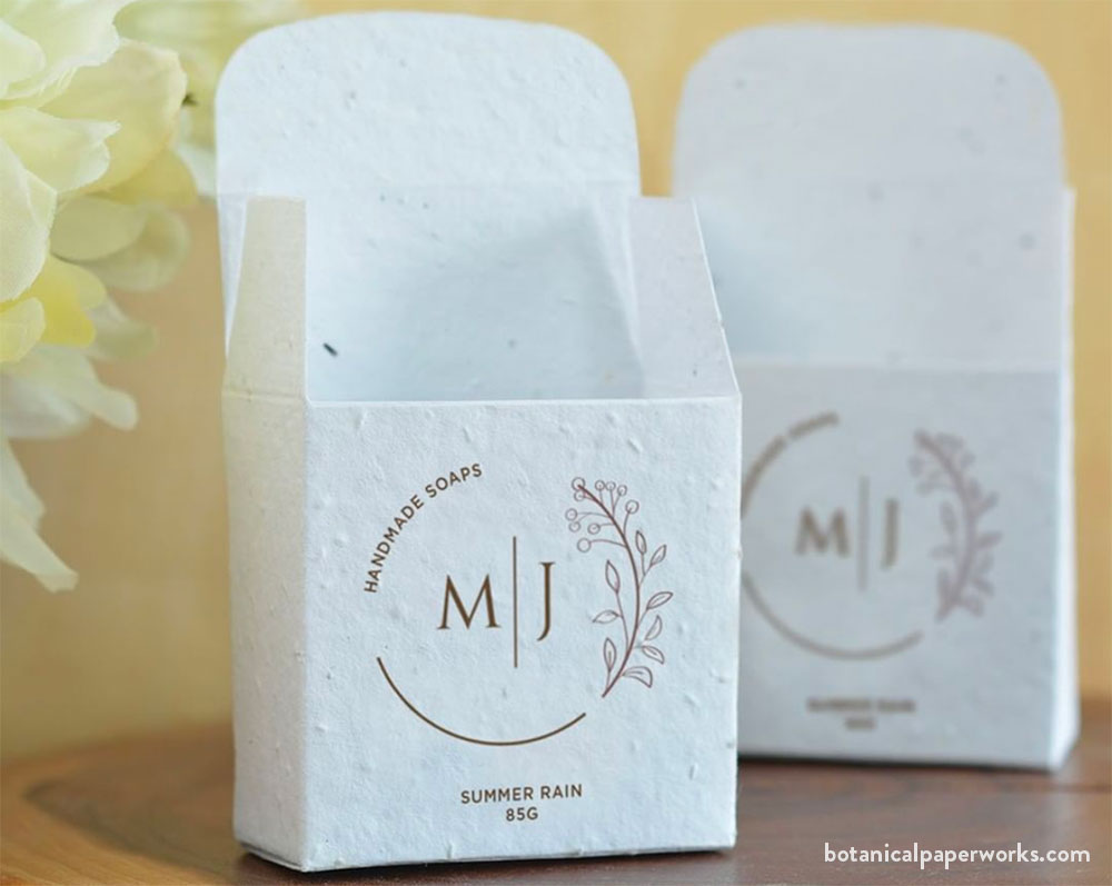 seed paper soap box packaging that grows into wildflowers when planted