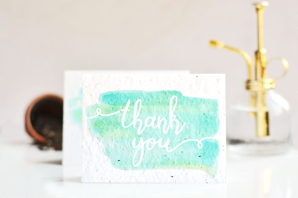 plantable seed paper thank you card