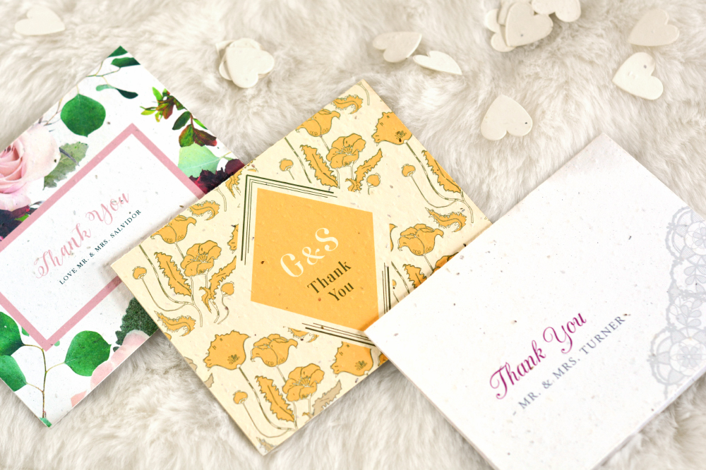 plantable seed paper thank you cards