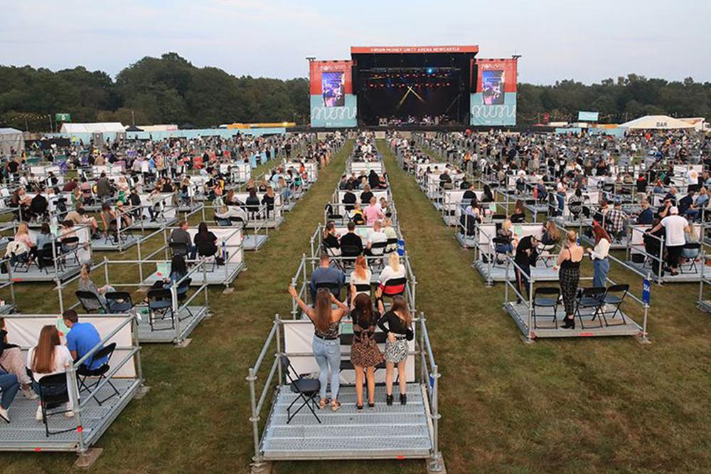 socially distanced concert