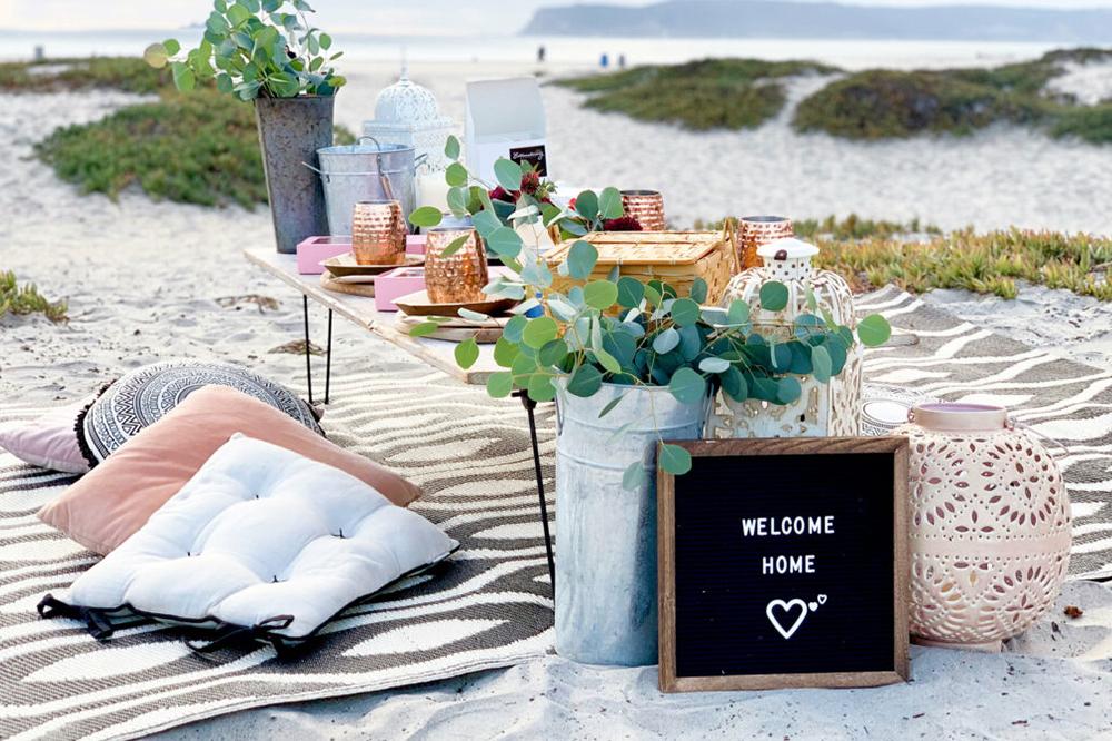 a luxury popup picnic