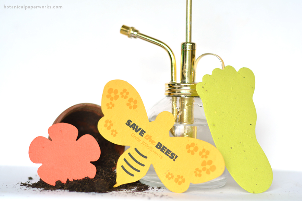 plantable seed paper shapes for school promotional gifts