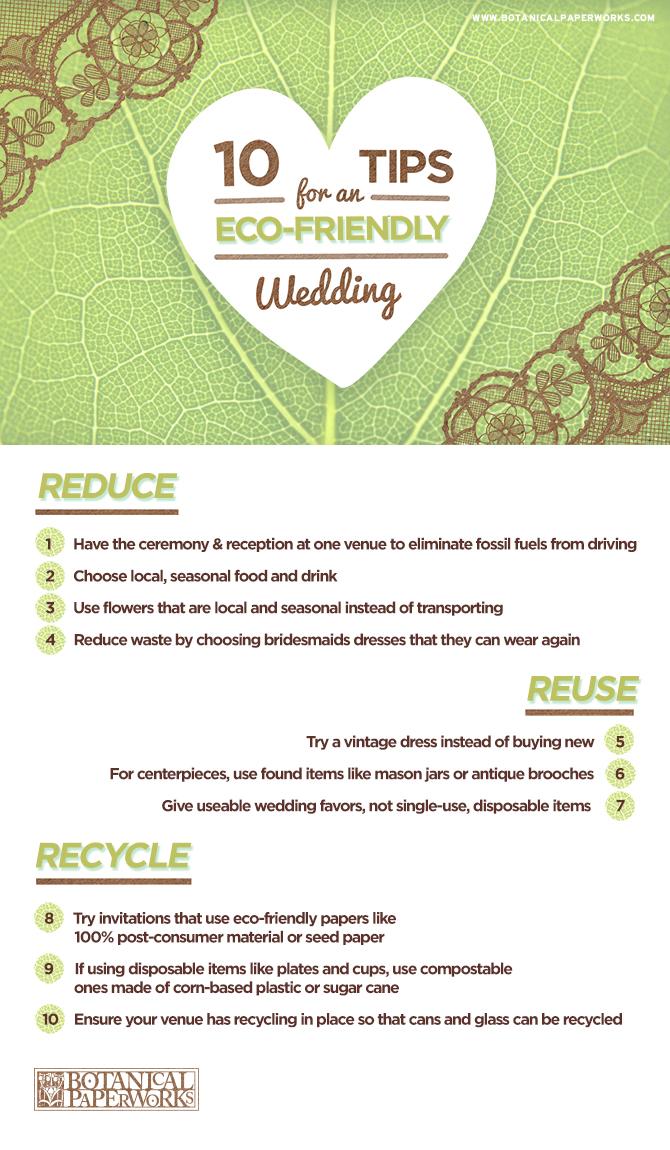 Ten Tips for An Eco-Friendly Wedding