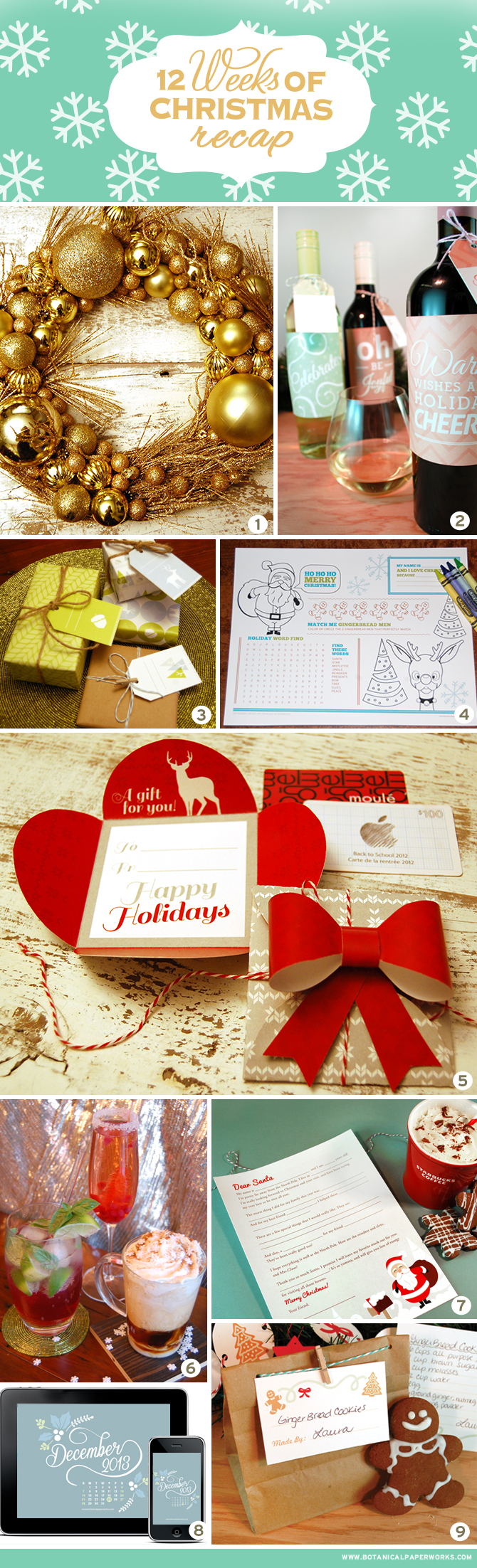 Here's a recap of all the totally fun and stylish freebies that were part of the 12 Weeks of Christmas - enjoy!