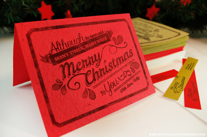 Included in the 12 Weeks of Christmas Giveaway are 20 personalized holiday cards with envelopes and matching return address labels.