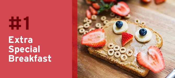 We love the idea of treating your children to an extra special breakfast as a way to spend some time together before their first day of #school!