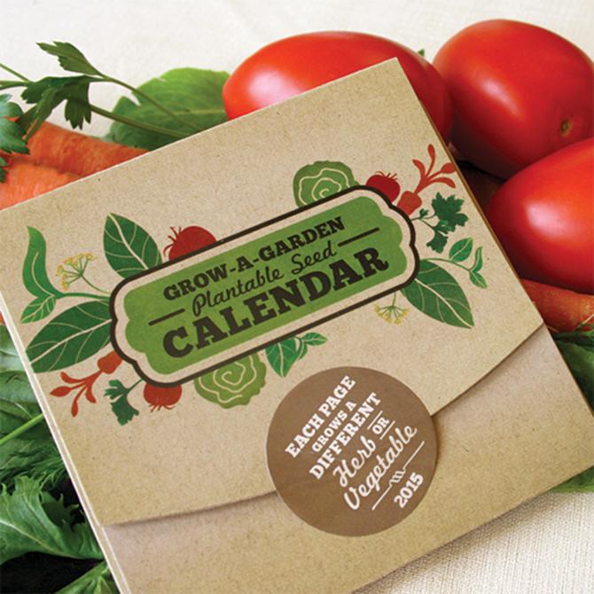 Botanical PaperWorks 2015 Grow-A-Garden Calendar