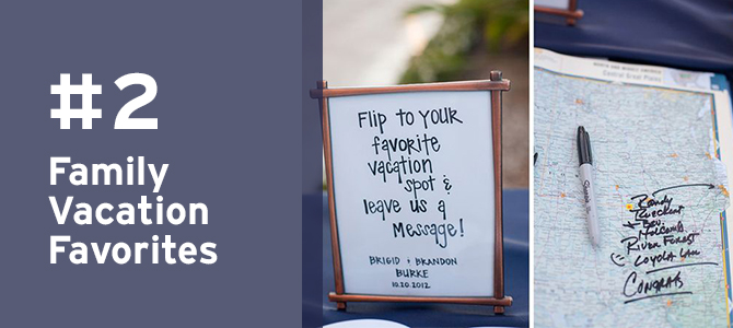 Find out where all of your #family members came from with this charming #travel detail for #destinationweddings! Take a look at MORE travel-inspired elements for destination weddings here.