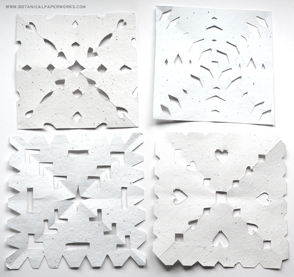 Learn to make paper snowflakes in this step-by-step tutorial.