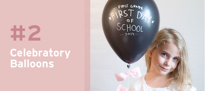 When your kids come to the kitchen when they first wake up, have a bunch of balloons ready to make them feel special and excited. And as an added bonus, they'll be perfect props for photographs!