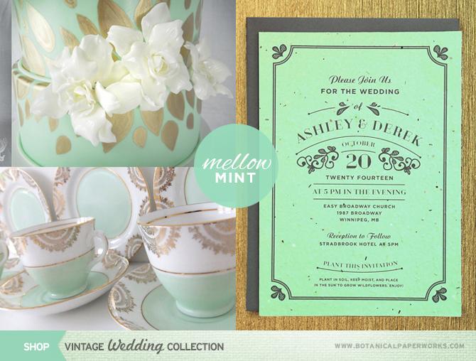 Summer Wedding Trend #2: Mellow Mint