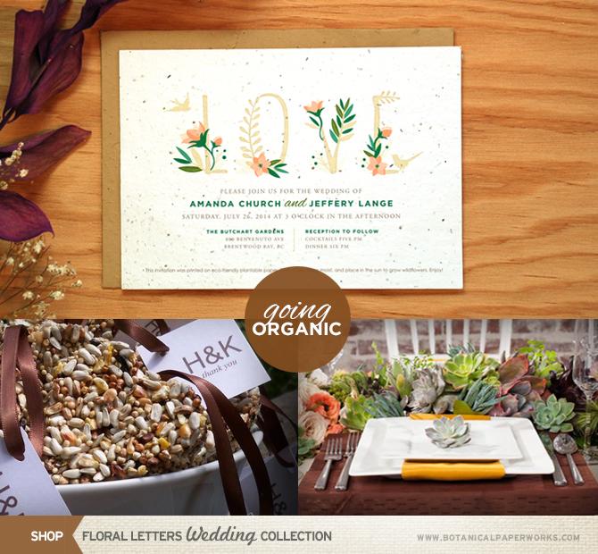 Summer Wedding Trend #3: Going Organic