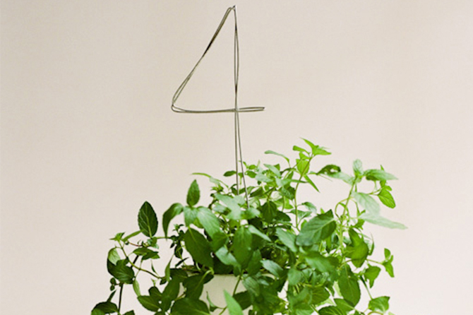 These DIY Table Numbers are perfect to use in floral arrangements or plants for a more simple and minimalist look.