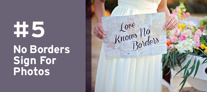 For beautiful #weddingphotography, hand write this sweet quote on a #map to show your love of #travel.